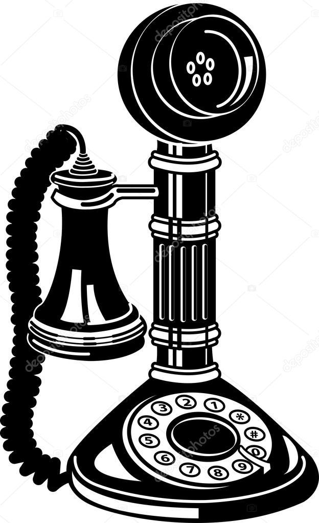 clip art antique phone - photo #18