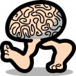 Genius brain walking on two legs — Stock Vector