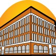 Stock Vector: Commercial building with four floors