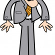 Blond business guy in a gray suit — Stock Vector #17246565