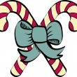 Candy cane clip art — Stock Vector