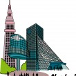 Stock Vector: Cleveland Ohio clip art.