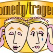Drama Mask of Comedy and Tragedy — Imagen vectorial