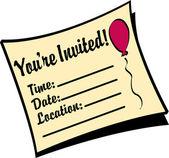 Youre invited birthday party invitation — Stock Vector