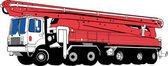 Concrete truck — Stock Vector