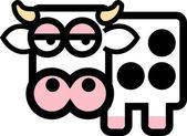 Cute cartoon cow — Stock Vector