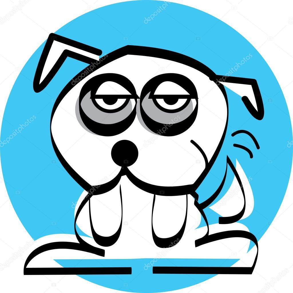 Sad Dogs Black And White Sad Little White Dog With Dark