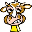 Cow with a mad expression — Stock Vector