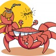 Crab on beach — Stock Vector