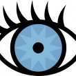 Vector de stock : Cartoon eye