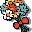 Cartoon flowers - Stock Vector