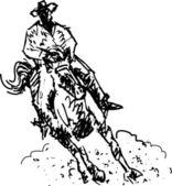 Rodeo rider western cowboy — Stock Vector