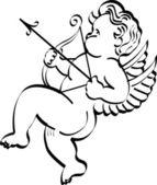 Tattoo Design Cupid Arrow — Stock Vector