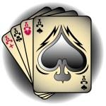 Aces Spades Poker — Stock Vector
