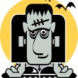 Stock Vector: Frankenstein face