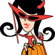 Cute Halloween costumes — Vector de stock #17426661