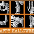 Series Of Xrays With Text Reading Happy Halloween - Stock Vector