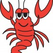 Happy Red Lobster - Stock Vector