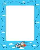 Plane frame — Stock Vector
