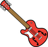 Guitar Over a White Background — Stock Vector
