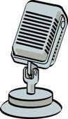 Retro Desk Microphone — Stock Vector