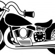 Black And White Motorcycle - Vettoriali Stock 