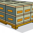 Stock Vector: Shipping Pallet