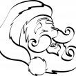 Coloring Page Outline Of Santa - Stock Vector