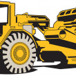 Stock Vector: Scraper or heavy machinery for asphalt paving