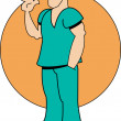 Male Nurse — Stock Vector