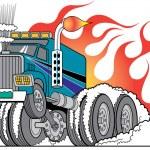 Hot Rod Truck — Stock Vector