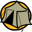 Royalty-Free Stock Vector Image: Tent Set Up At A Campground