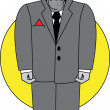 Stock Vector: Huge Male Thug Or Bodyguard In Suit