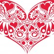 Royalty-Free Stock Vector Image: Victorian Heart Design