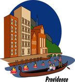 Providence Rhode Island — Stock Vector
