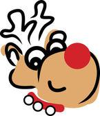 Rudolph, el reno de nariz rojo — Vector de stock