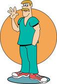 Male Nurse — Stock Vector