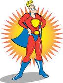Superhero Clip Art — Stock Vector
