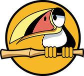 Cute Toucan Bird — Stock Vector
