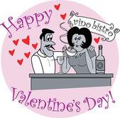 Happy Couple Drinking Wine — Stock Vector