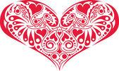 Victorian Heart Design — Stock Vector