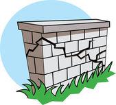 Crumbling Wall — Stock Vector