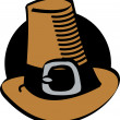 Stock Vector: Pilgrims Hat