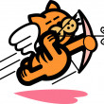 Orange Cat Flying Like Cupid — Stock Vector #17682315