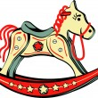 Rocking horse — Stock Vector #17682617