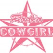 Rodeo cowgirl — Stock Vector