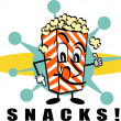 Stock Vector: Popcorn Snacks clip art