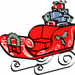 Christmas Sleigh — Stock Vector #17682967