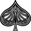 Aces spades poker — Stock Vector