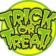 Vector de stock : Halloween trick or treat